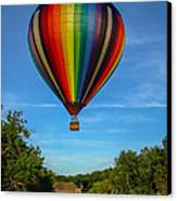 Hot Air Balloon Woodstock Vermont Canvas Print by Edward Fielding