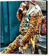 Hot Coffee And Haute Couture Canvas Print by Jeff Breiman