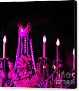 Hot Pink Chandelier Canvas Print