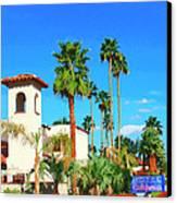 Hotel California Palm Springs Canvas Print by William Dey
