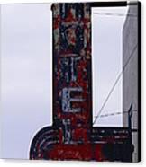 Hotel Club And Bar  Plentywood Montana Canvas Print