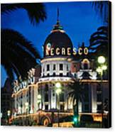 Hotel Negresco Canvas Print by Inge Johnsson