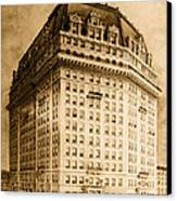 Hotel Pontchartrain Detroit 1910 Canvas Print by Mountain Dreams