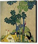 House And Garden Cover Canvas Print