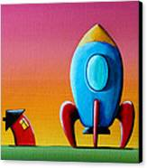 House Builds A Rocketship Canvas Print