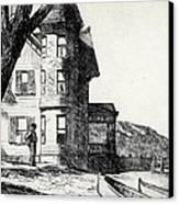 House By A River Canvas Print by Edward Hopper