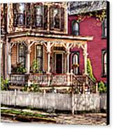 House - Country Victorian Canvas Print by Mike Savad