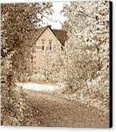 House In Autumn Canvas Print by Blink Images