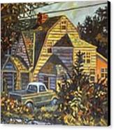 House In Christiansburg Canvas Print by Kendall Kessler