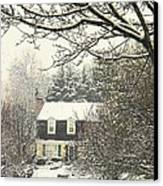House In Snow Canvas Print