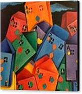 House Of Cards Canvas Print by Lisa Bentley