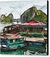House On The Sea Canvas Print by Teara Na