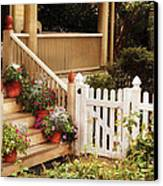 House - Rutherford Nj - My Grandmother's Garden  Canvas Print by Mike Savad