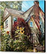 House - Westfield Nj - The Summer Retreat  Canvas Print by Mike Savad