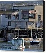 Houseboat In Monterey Harbor Canvas Print by Elery Oxford