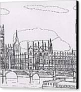 Houses Of Parliament Canvas Print by Bav Patel