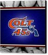 Houston Colt 45's Canvas Print by Joe Hamilton