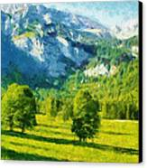 How Green Was My Valley Canvas Print by Ayse Deniz