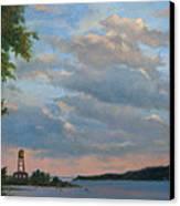 Hudson River Skyscape  Canvas Print