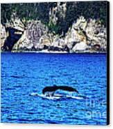Humpback Whale Alaska Canvas Print