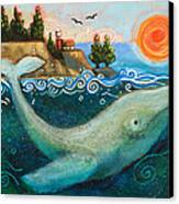 Humpback Whales In Santa Cruz Canvas Print