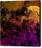 Hunter's Moon Canvas Print by Karen Slagle