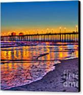 Huntington Beach Pier Sundown Canvas Print