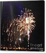 Huron Ohio Fireworks 2 Canvas Print by Jackie Bodnar