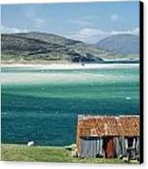 Hut On West Coast Of Isle Canvas Print by Rob Penn