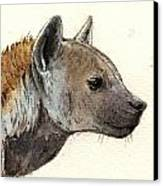 Hyena Head Study Canvas Print by Juan  Bosco