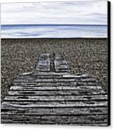 Hythe Beach Kent Canvas Print by Lesley Rigg