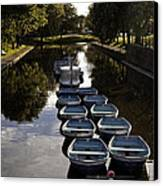 Hythe Military Canal Kent Canvas Print by Lesley Rigg