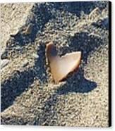 I Heart The Beach Canvas Print by Anna Villarreal Garbis