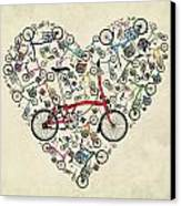 I Love My Brompton Canvas Print by Andy Scullion
