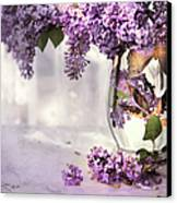 I Picked A Bouquet Of Lilacs Today Canvas Print by Theresa Tahara
