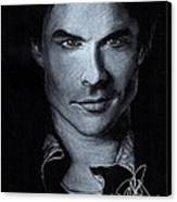 Ian Somerhalder Canvas Print by Rosalinda Markle