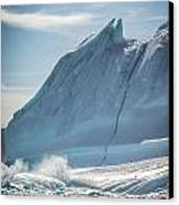 Ice And Surf IIi Canvas Print by David Pinsent