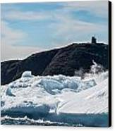 Ice And Surf Iv Canvas Print by David Pinsent