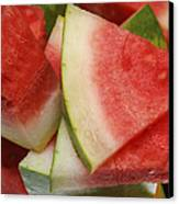 Ice Cold Watermelon Slices 2 Canvas Print by Andee Design