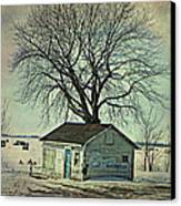 Ice Fishing  Canvas Print by Dianne  Lacourciere