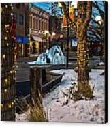 Ice Fountain Canvas Print