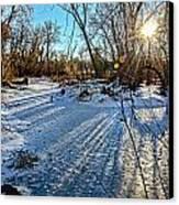 Ice Pond Sunset Canvas Print