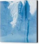 Ice Wall Canvas Print by David Pinsent