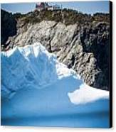 Ice X Canvas Print by David Pinsent