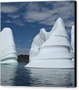 Icebergs Canvas Print