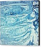 Icicle Abstract Triptych 2 Blue Canvas Print by Marie Spence