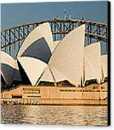 Icons One And Two - Sydney Australia. Canvas Print by Geoff Childs