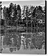 Icy Pond Reflects Canvas Print