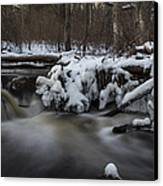 Icy Waters Canvas Print by Andrew Pacheco