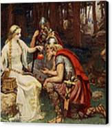Idun And The Apples, Illustration Canvas Print